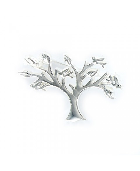 -Broche de plata silueta de...