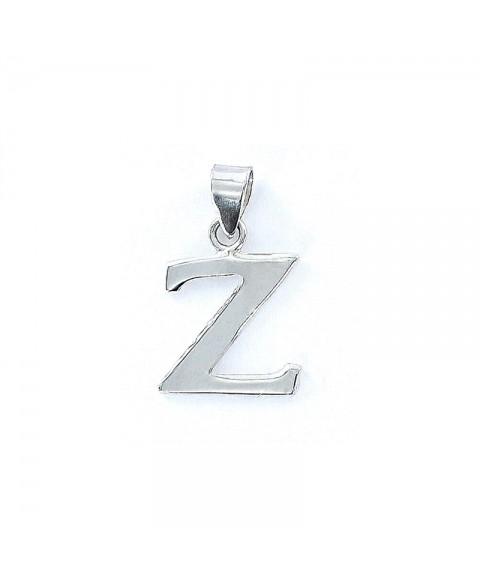 Colgante liso inicial Z
