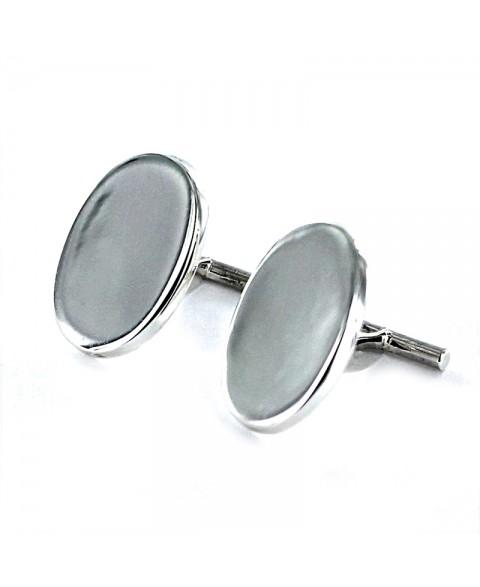 Gemelos de plata oval plano...