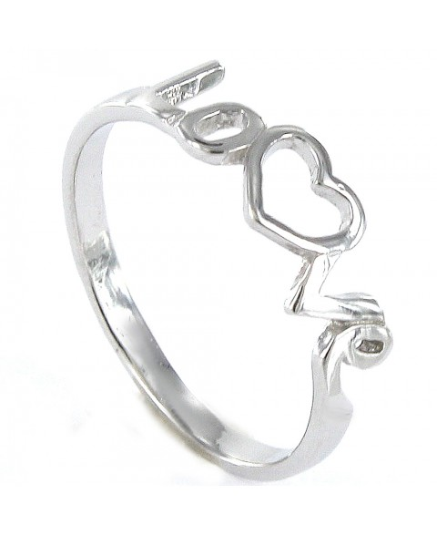 Anillo de plata lisa Love...
