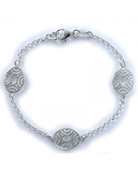 Pulsera de plata cadena...
