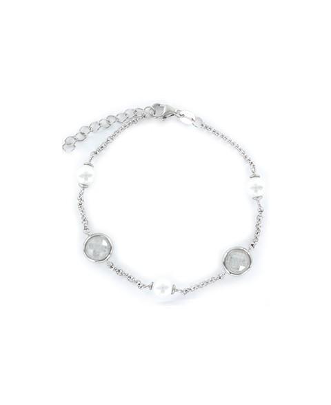 Pulsera de plata y perlas...