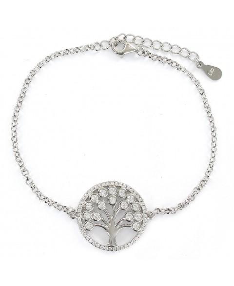 Pulsera de plata con árbol...