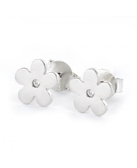 Pendiente de plata flor de...