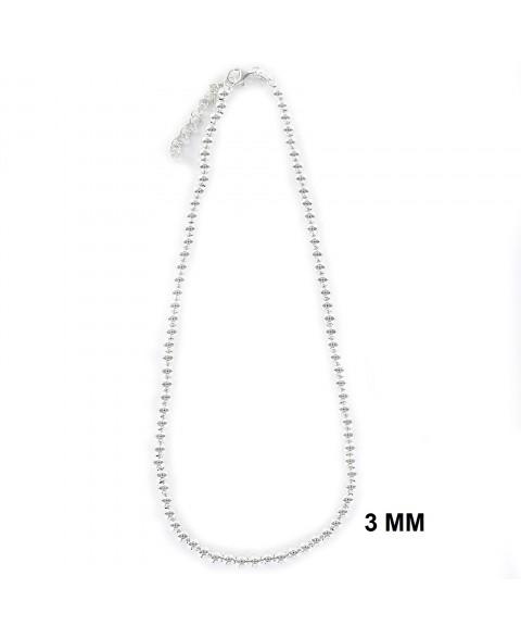 Collar de plata bolas de 3 mm