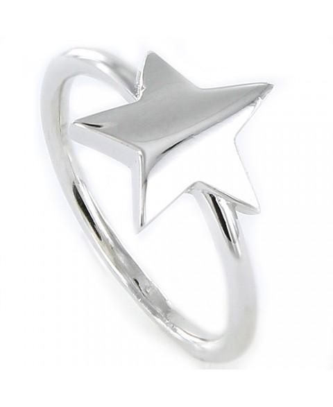 Anillo de plata estrella...