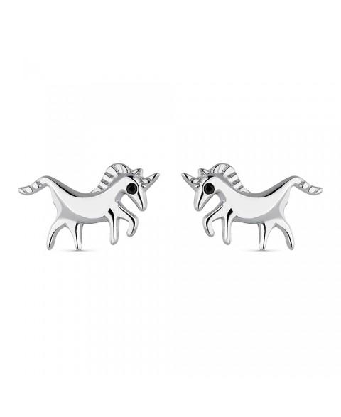 Pendiente Unicornio Plata