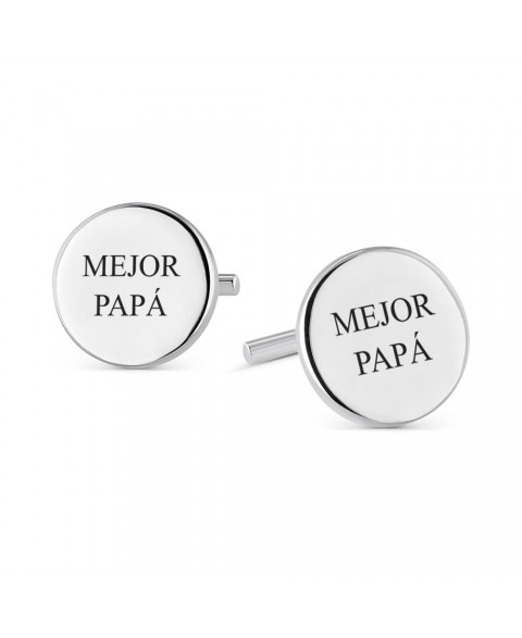 Gemelos de plata Mejor papá...