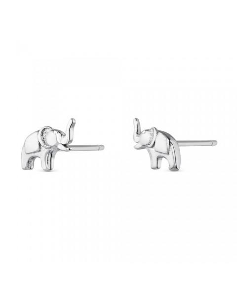 Pendientes Elefante Mini Plata