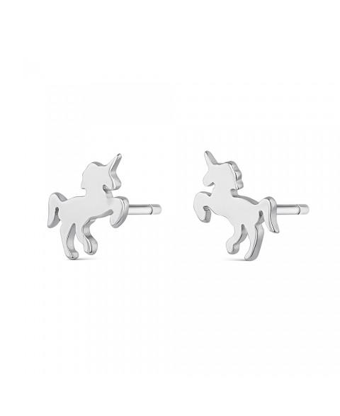 Pendientes Unicornio Plata